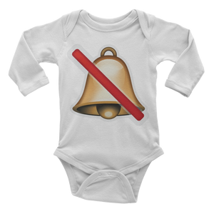 Emoji Baby Long Sleeve One Piece - Bell With Cancellation Stroke-Just Emoji