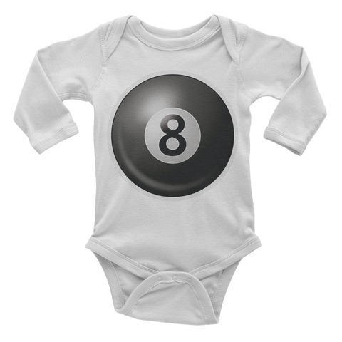 Emoji Baby Long Sleeve One Piece - Billiards-Just Emoji