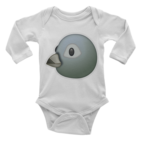 Emoji Baby Long Sleeve One Piece - Bird-Just Emoji
