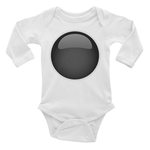 Emoji Baby Long Sleeve One Piece - Black Circle-Just Emoji