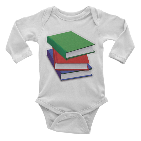 Emoji Baby Long Sleeve One Piece - Books-Just Emoji