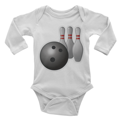 Emoji Baby Long Sleeve One Piece - Bowling-Just Emoji