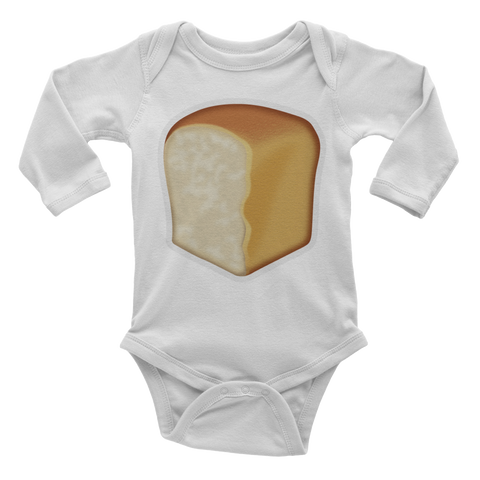 Emoji Baby Long Sleeve One Piece - Bread-Just Emoji
