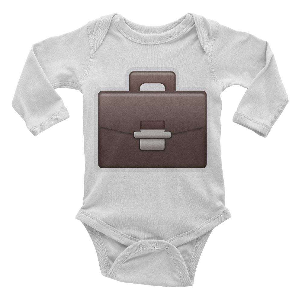 Emoji Baby Long Sleeve One Piece - Briefcase-Just Emoji