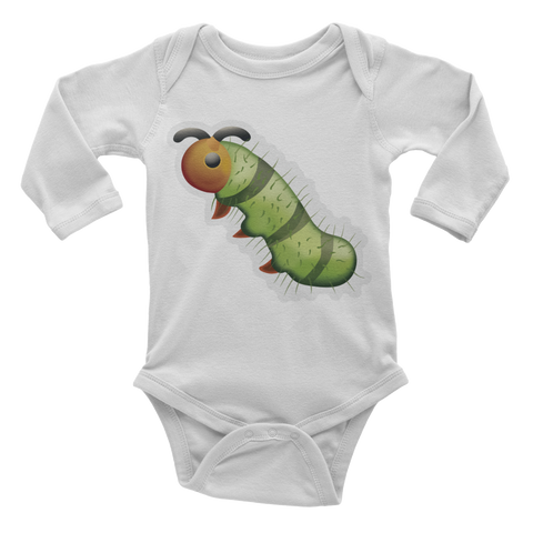 Emoji Baby Long Sleeve One Piece - Bug-Just Emoji