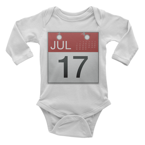Emoji Baby Long Sleeve One Piece - Calendar-Just Emoji