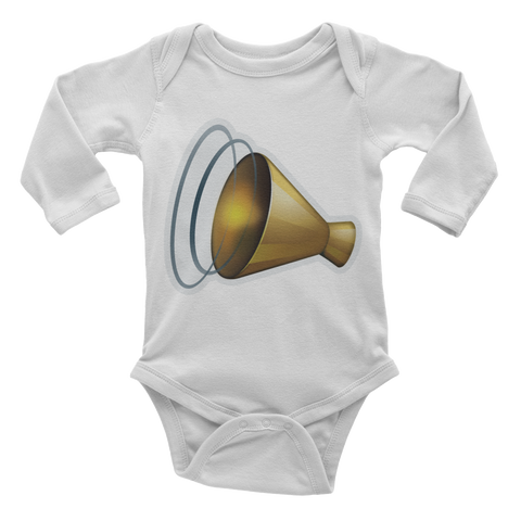 Emoji Baby Long Sleeve One Piece - Cheering Megaphone-Just Emoji
