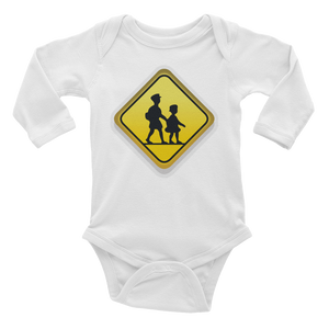 Emoji Baby Long Sleeve One Piece - Children Crossing-Just Emoji