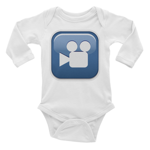 Emoji Baby Long Sleeve One Piece - Cinema-Just Emoji