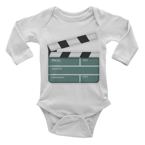 Emoji Baby Long Sleeve One Piece - Clapper Board-Just Emoji