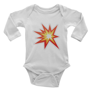Emoji Baby Long Sleeve One Piece - Collision Symbol-Just Emoji