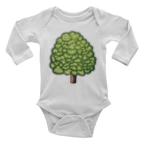 Emoji Baby Long Sleeve One Piece - Deciduous Tree-Just Emoji