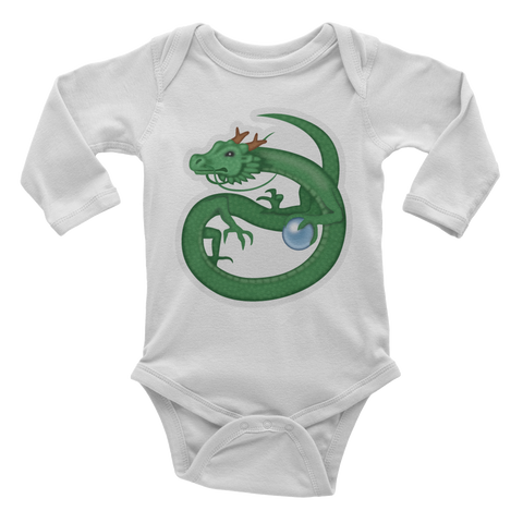 Emoji Baby Long Sleeve One Piece - Dragon-Just Emoji