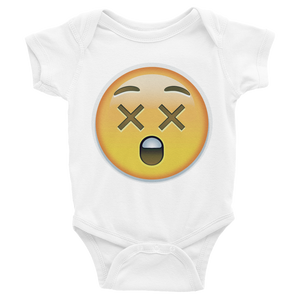 Emoji Baby Short Sleeve One Piece - Astonished Face-Just Emoji