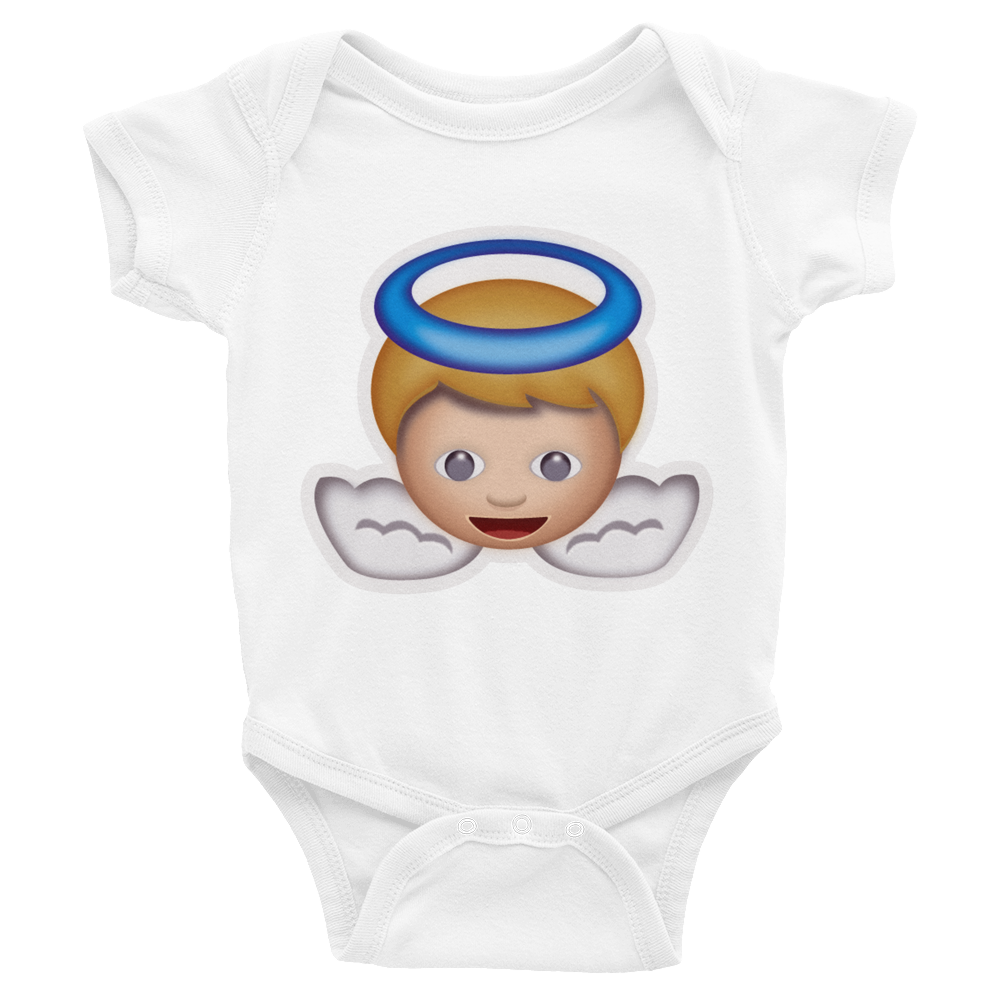 Emoji Baby Short Sleeve One Piece - Baby Angel-Just Emoji