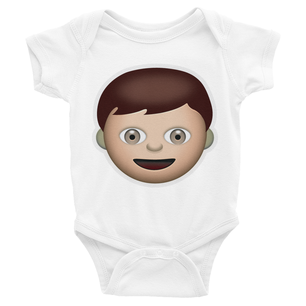 Emoji Baby Short Sleeve One Piece - Boy-Just Emoji