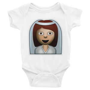 Emoji Baby Short Sleeve One Piece - Bride With Veil-Just Emoji