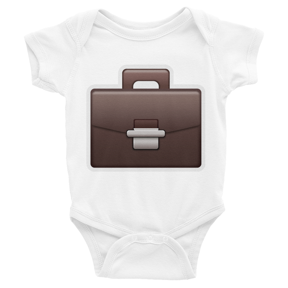Emoji Baby Short Sleeve One Piece - Briefcase-Just Emoji