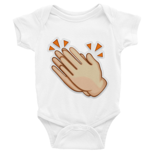 Emoji Baby Short Sleeve One Piece - Clapping Hands Sign-Just Emoji