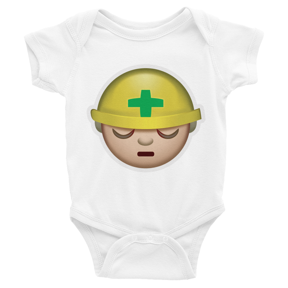 Emoji Baby Short Sleeve One Piece - Construction Worker-Just Emoji