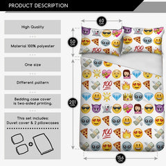 Emoji Bedding - Multiple Emojis-Just Emoji