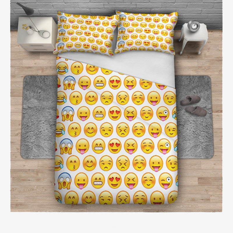 Emoji Bedding - Multiple Yellow Emoji Faces-Just Emoji