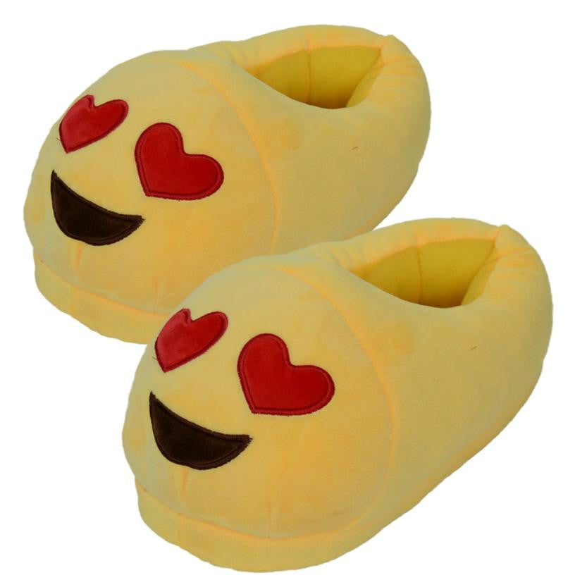 Emoji Slippers - Smiling Face With Heart Shaped Eyes-Just Emoji