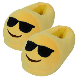 Emoji Slippers - Smiling Face With Sunglasses-Just Emoji
