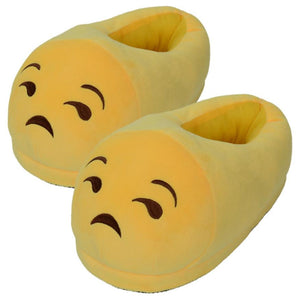 Emoji Slippers - Unamused Face-Just Emoji