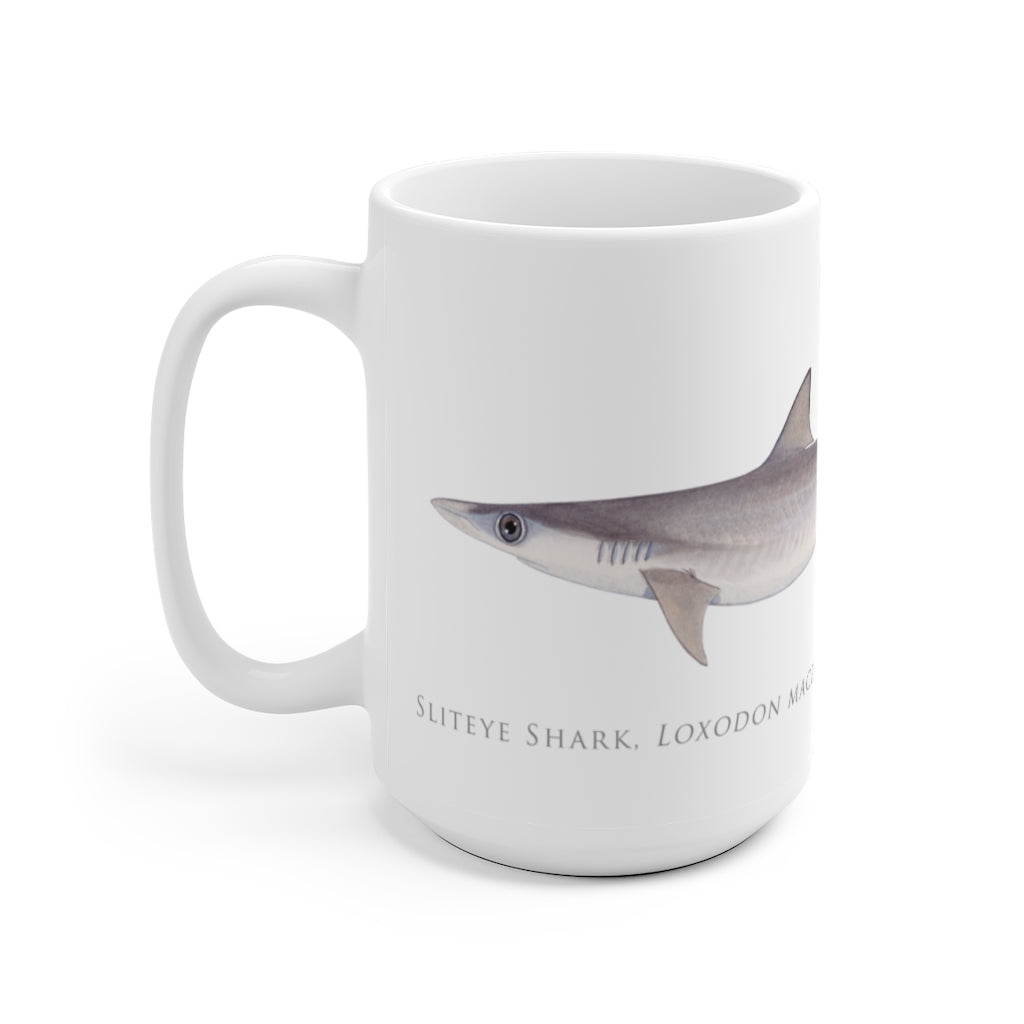 Sliteye Shark Mug - Stick Figure Fish Illustration