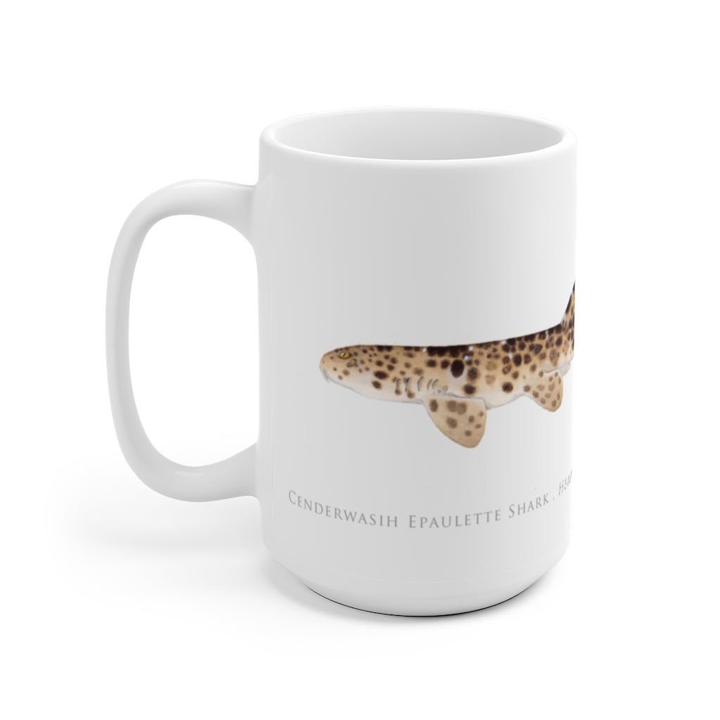 Cenderwasih Epaulette Shark Mug - Stick Figure Fish Illustration