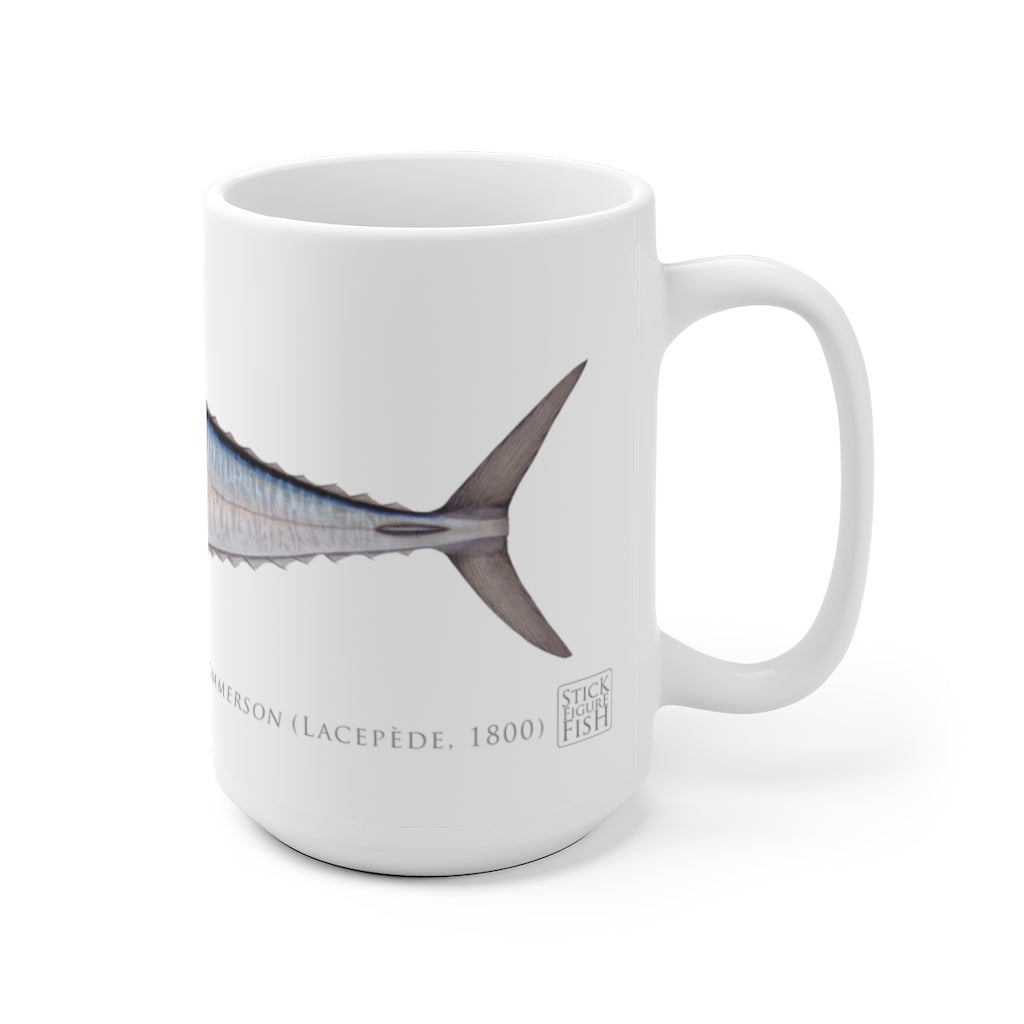 Spanish Mackerel Mug - Stick Figure Fish Illustration