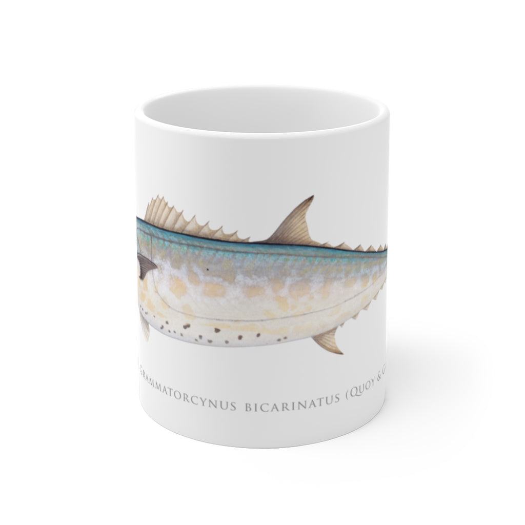 Shark Mackerel Mug - Stick Figure Fish Illustration