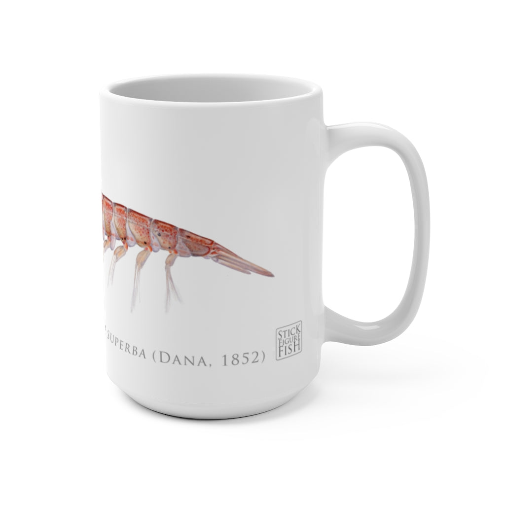 Antarctic Krill Mug - Stick Figure Fish Illustration