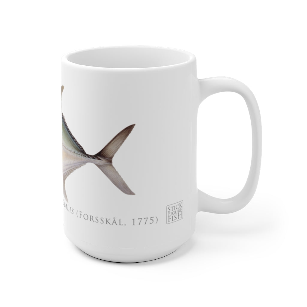 Giant Trevally Mug - Stick Figure Fish Illustration