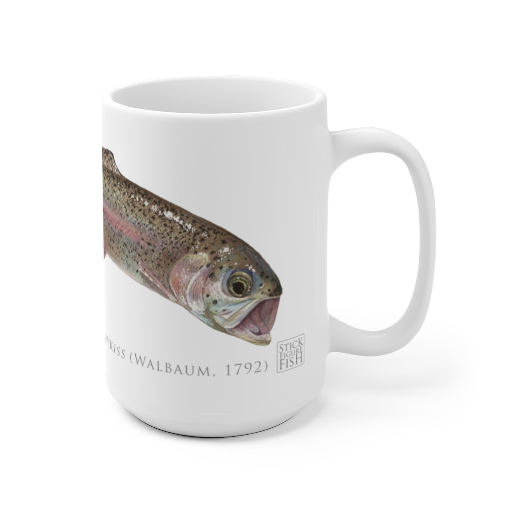 Rainbow Trout Mug - Stick Figure Fish Illustration
