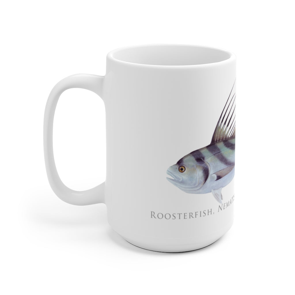 Roosterfish Mug - Stick Figure Fish Illustration
