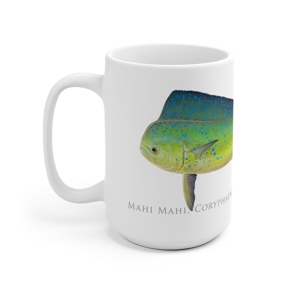 Mahi Mahi Mug - Stick Figure Fish Illustration