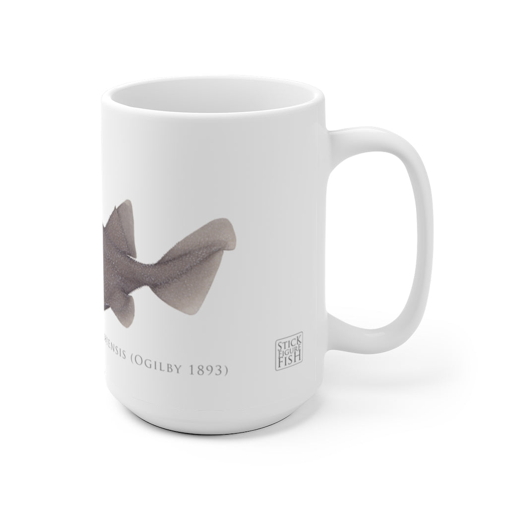 Prickly Dogfish Mug - Stick Figure Fish Illustration
