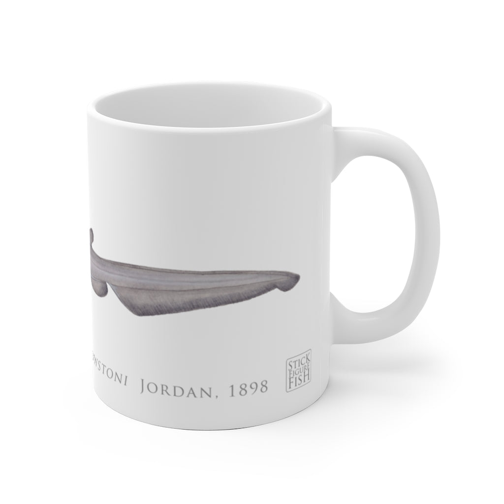 Goblin Shark Mug - Stick Figure Fish Illustration
