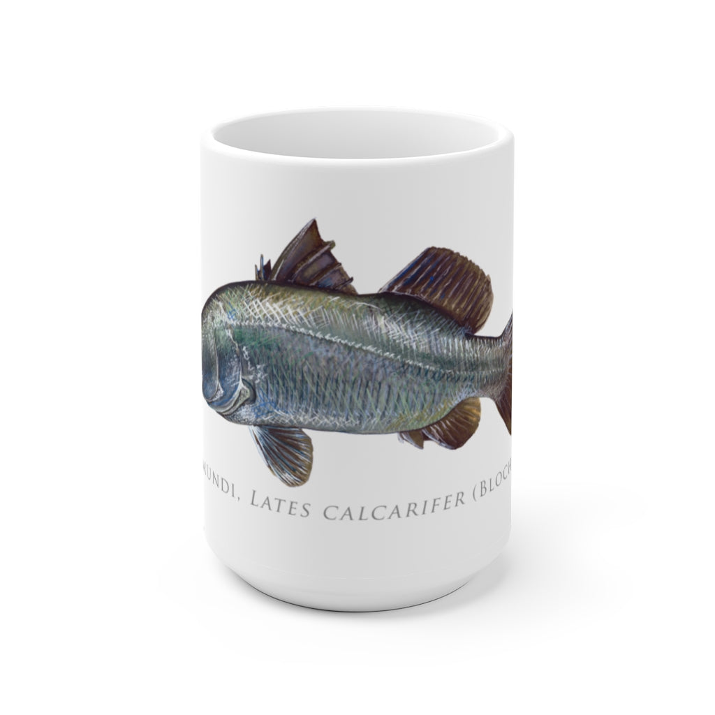 Barramundi Mug - Stick Figure Fish Illustration