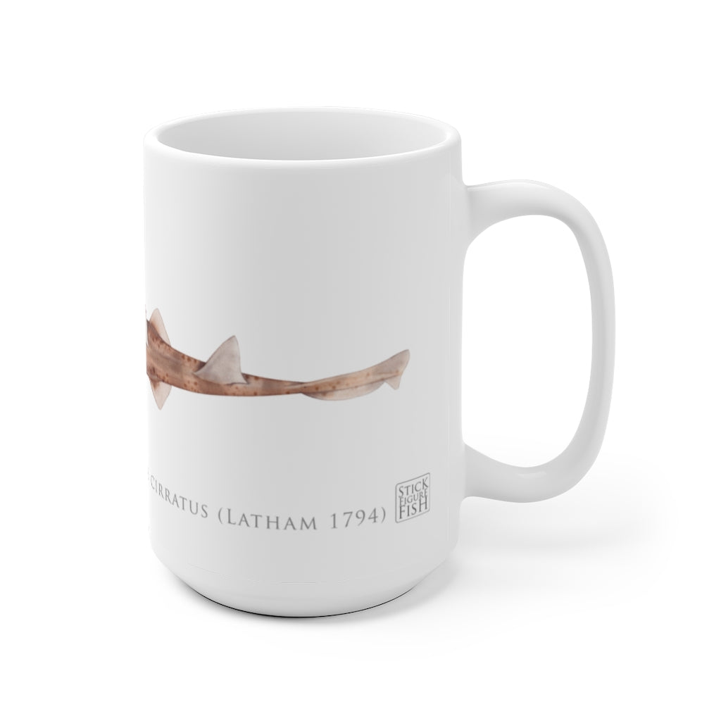 Common Sawshark mug - Stick Figure Fish Illustration