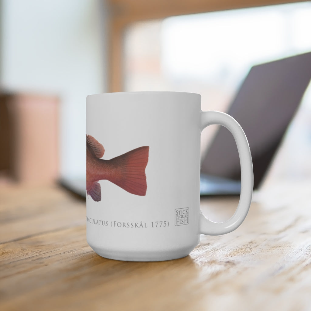 Mangrove Jack Mug - Stick Figure Fish Illustration