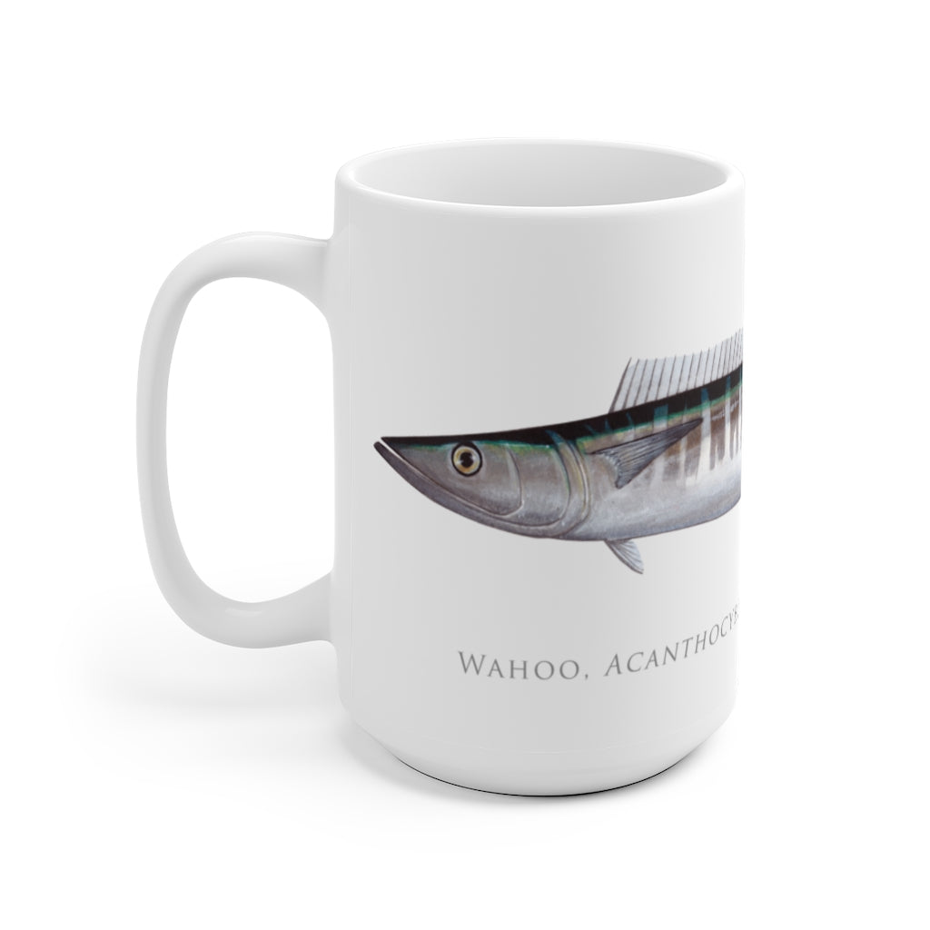 Wahoo No. 1 Mug - Stick Figure Fish Illustration