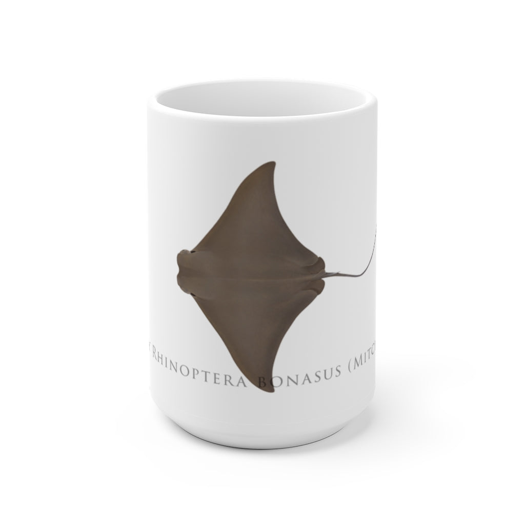 Cownose Ray mug - Stick Figure Fish Illustration