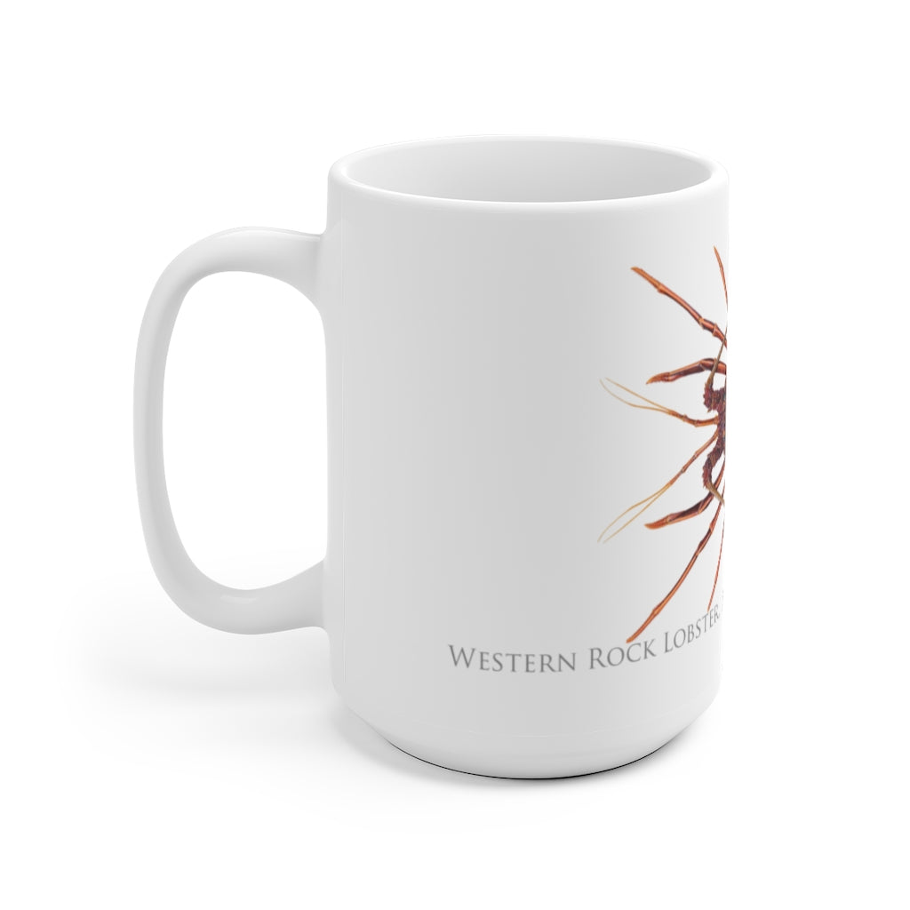 Western Rock Lobster Mug - Stick Figure Fish Illustration
