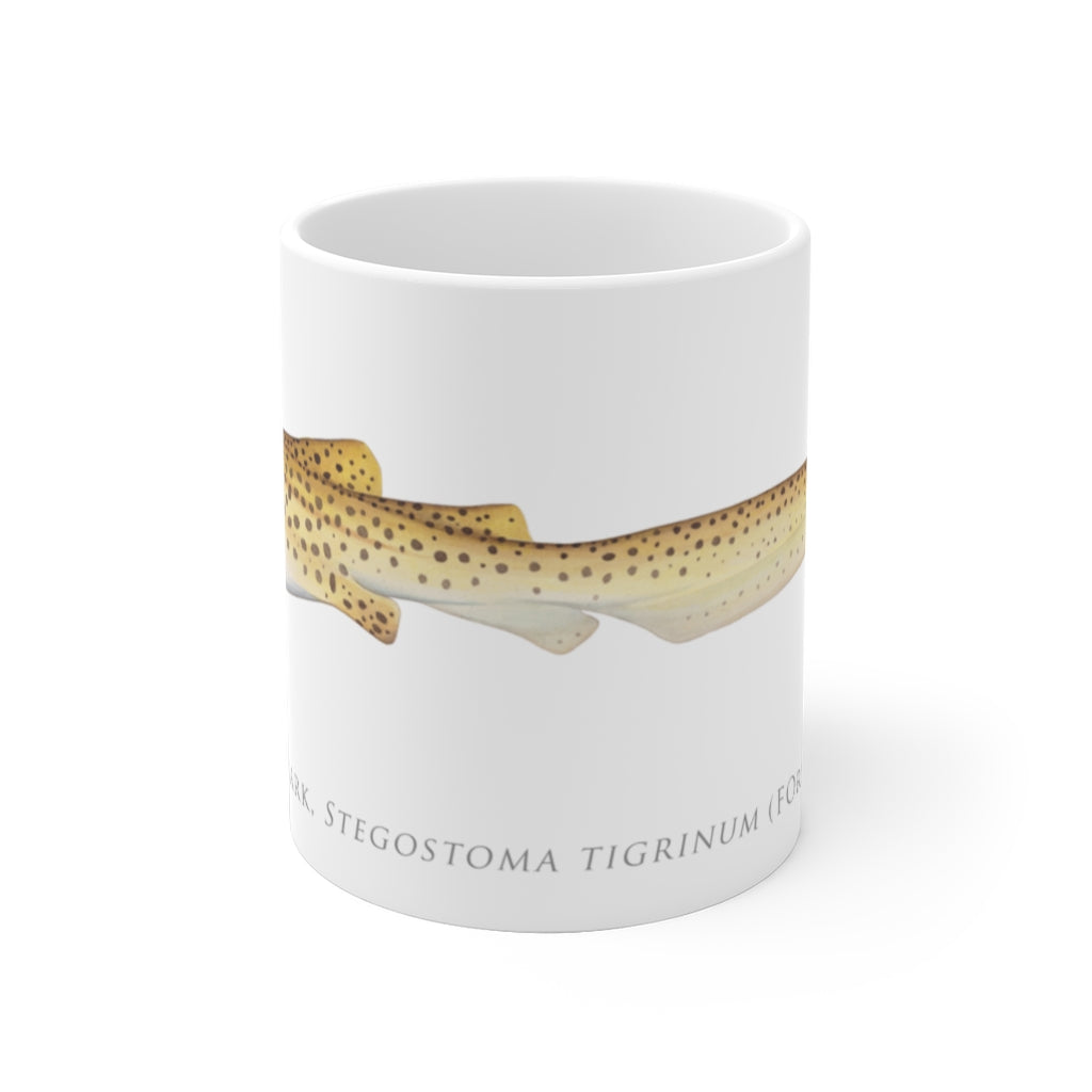 Zebra Shark Mug - Stick Figure Fish Illustration