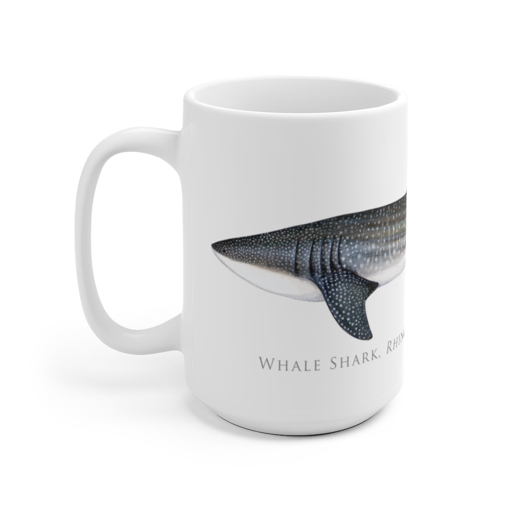 Whale Shark Mug - Stick Figure Fish Illustration