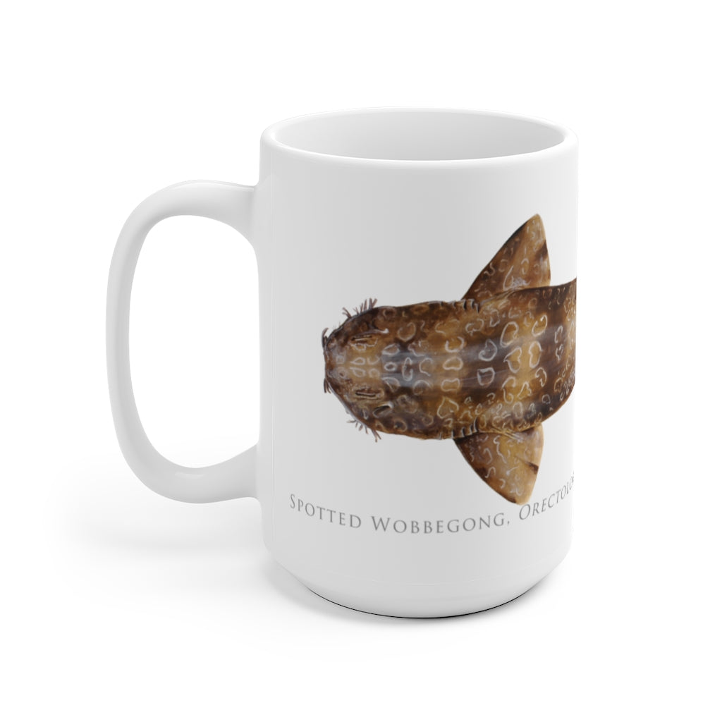 Spotted Wobbegong Mug - Stick Figure Fish Illustration