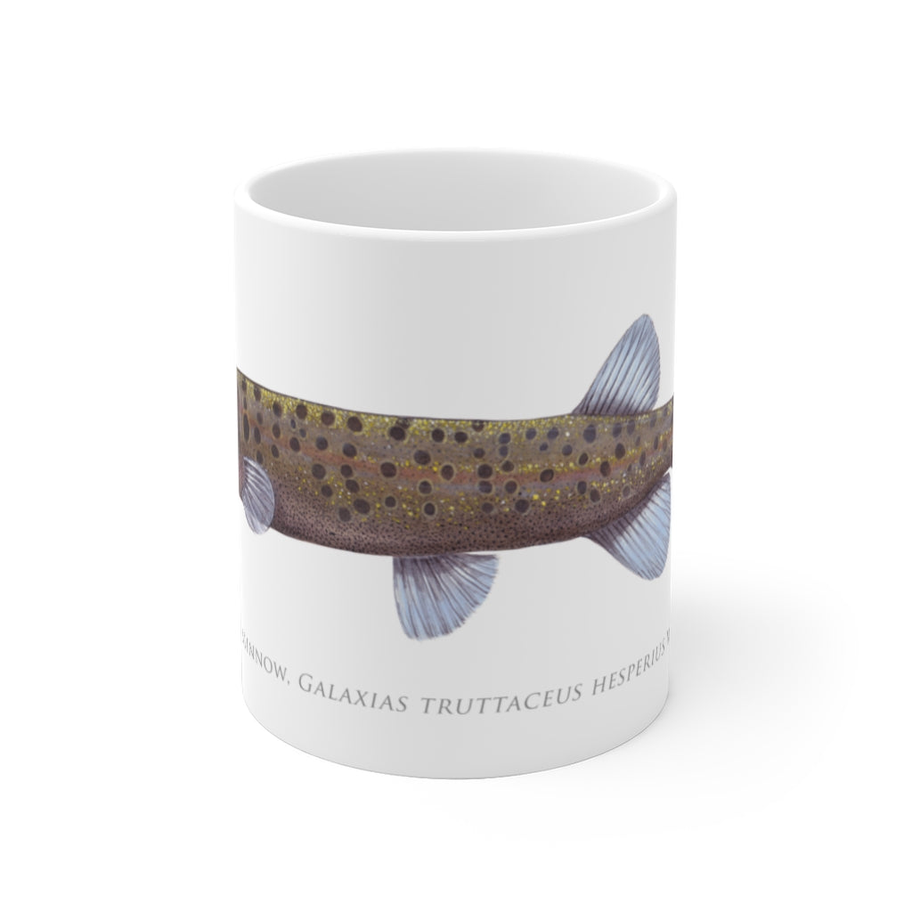 Western Trout Minnow Mug - Stick Figure Fish Illustration
